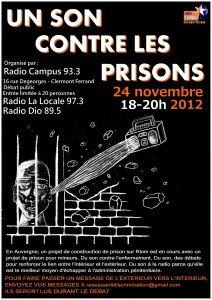 Du son contre les prisons le 24-11 à Clermont Ferrand affiche-son-contre-les-prisons-0112-212x300