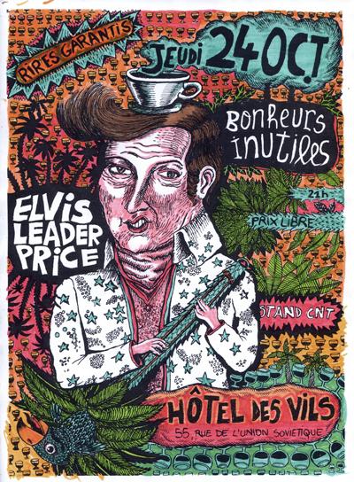CLERMONT FERRAND : Elvis Leader Price, des surprises, du café zapatiste, table de presse CNT-AIT... tout ça le 24 octobre à l'Hotel des Vils elvisfeutres1